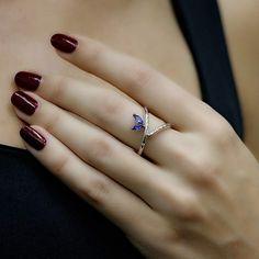 """Blues"" Convertible Sapphire Ring - Plukka - Shop Fine Jewelry Online"
