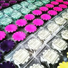 Rows and rows of our colorful 'Premium Soy Wax Melts' in production today, and in our new packaging! Discover your favorites at wicknflame.com