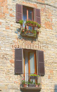 Glimpse of Bergamo, high town