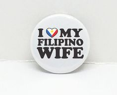 Pinoy Love2 2.25 pinback button or 2 1/4 Mirror or by OhBoyLoveIt