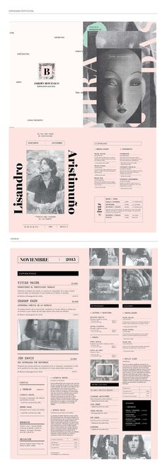 Espacio Cultural Jardín Botánico - Identidad on Behance Magazine Layout Design, Book Design Layout, Print Layout, Graph Design, Web Design, Print Design, Editorial Layout, Editorial Design, Graphic Design Posters
