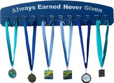 Medal Display for a Swimmer / Medal hanger medal by KenAndNell, $119.95