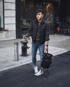 """8,217 Likes, 85 Comments - Justin Livingston (@justinliv) on Instagram: """"Feeling very lumbermasc in plaid + denim today...  (I could wear green and black everyday,…"""""""