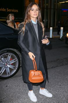 Just Can't Get Enough: Miroslava Duma and Her Gabriela Hearst Nina and Demi Bags - PurseBlog