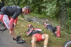 Not sure what Bouhanni's done to anger the cycling gods but he's out of the tour after a stage 5 crash