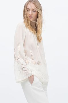Embroidered Blouse, £39.99 | Zara