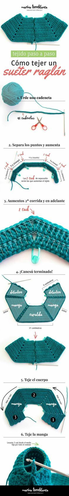 28 best como hacer chambritas en crochet images on Pinterest | Coast ...