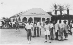 Palacio de Justicia de Mongomo, Rio Muni, continente de la Guinea española