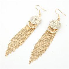 Fashion Long Tassel Gold Plated Earrings Drop Earrings For Women Fashion Jewelry Wholesale  Brincos