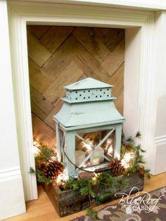 sweet display with lantern.