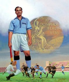 Dhyan Chandra Is a best hockey player in India. Government of India provide to Bharat ratna award to dhyan Chandra. Dhyan Chand, National Sports Day, Daman And Diu, Hanuman Photos, Berlin, Star Of The Day, India Win, Motivational Status, Lord Shiva Painting