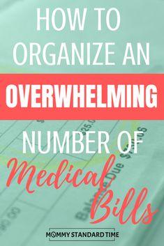 Medical Billing, Medical Care, Bill Organization, Organizing Life, Frugal Family, Frugal Living, Gentle Parenting, Parenting Tips, Medical Information