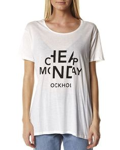 CHEAP MONDAY EASY TEE - WHITE