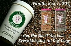 Pink Zebra recipe for Vanilla Bean Latte is made with Cafe Latte and Vanilla Bean sprinkles. Pink Zebra Party, Pink Zebra Home, Pink Zebra Sprinkles, Vanilla Recipes, Home Scents, Affordable Home Decor, Fragrance, Zebra Stuff, Mixers