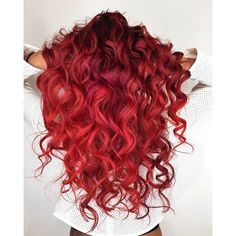 Red mermaid hair!