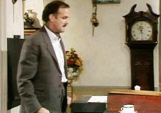 """But sometimes the stress of your work does get the best of you. 23 Ways You're Definitely Basil Fawlty From """"Fawlty Towers"""" British Sitcoms, British Comedy, Comedy Tv Shows, Comedy Series, Fawlty Towers, Are You Being Served, Color Television, Michael Palin, British Humor"""