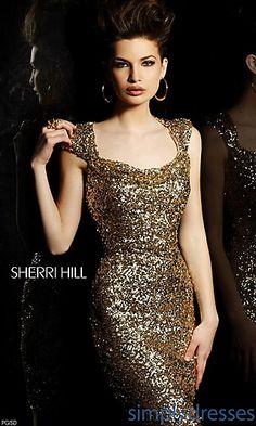 Short Open Back Sequin Dress at SimplyDresses.com
