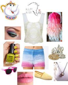 """Punk Rock Mrs. Potts Outfit"" by casey-carpenter on ..."