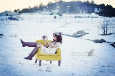I love the chair color against the snow!  @Michelle Maddox  it's just like your chair!