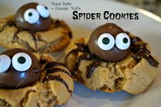 A Pinch of Chaos: Peanut Butter & Chocolate Truffle Spider Cookies