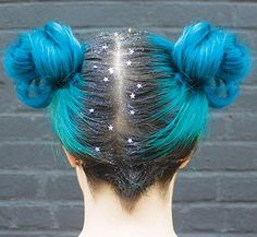 Our Dye Hard of the Month for March is our very own Social Media Manager Julia! She uses Atomic Turquoise and styled her buns with glitter roots!!!  https://www.manicpanic.com/blog/mar2016-dyehardofthemonth/