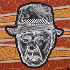 Archibald Prize Archibald 2018 finalist: Uncle Roy Kennedy by Blak Douglas Adam Hills, Art Gallery, Genealogy, Artist, Lens, Portraits, Art Museum, Artists, Head Shots