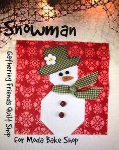 Countdown to Christmas: Snowman   Moda Bake Shop   Bloglovin'