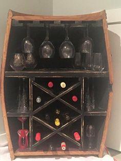 Half wine barrel wine rack Wine Rack, Liquor Cabinet, Barrel, Storage, Furniture, Products, Home Decor, Purse Storage, Decoration Home