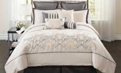 Groupon - 10-Piece Delphine Embroidered Comforter Set in Queen or King from $ 109.99–$119.99. Free Returns. in Online Deal. Groupon deal price: $109.99