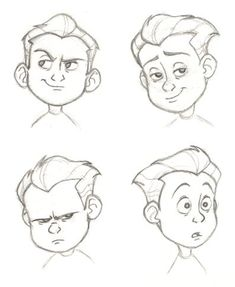 super Ideas for drawing cartoon faces disney facial expressions Drawing Cartoon Faces, Cartoon Sketches, Disney Sketches, Disney Drawings, Cartoon Styles, Drawing Sketches, Drawing Disney, Drawing Tips, Drawing Hair