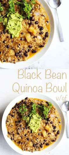 This homemade Black Bean Quinoa Soup is easy and only requires 1 pot, healthy, packed full of fresh earthy, hearty flavors and texture. Vegan and gluten free.