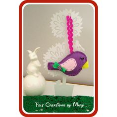 Felt Birdie Christmas Decoration    https://www.hand-made.com.au/ALittleBirdieToldMe