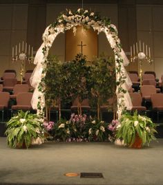 decorated arches for a wedding | Indoor or Outdoor Wedding Ceremony Locations