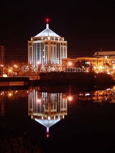 The Dudley Tower at night. Downtown Wausau by mike52995, via Flickr