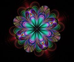 Eurydike 3 by Kattvinge on DeviantArt Art Fractal, Fractal Design, Fractal Images, Cool Optical Illusions, Art Optical, Kaleidoscope Art, Image Zen, Sacred Geometry Art, Fractal Geometry