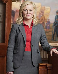 Leslie Knope (Amy Poehler), Parks and Recreation). I call her the love child of liz lemon and jenna maroney from 30 rock...she is so brilliant and funny!