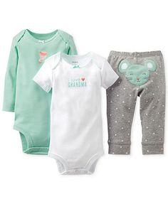 Carter's Baby Girls' 3-Piece Mouse Bodysuits & Pants Set