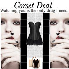 Ingrid Overbust Corset http://www.corsetdeal.com/Ingrid-Overbust-Corset_p_2141.html  Your Price:$79.68 Retail Price:$109.68  Desiree Lace Tu Tu Skirt http://www.corsetdeal.com/Desiree-Lace-Tu-Tu-Skirt_p_2733.html  #corsetdeal #corset  #waisttrainingcorset