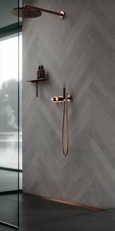 30 Amazing Small Bathroom Wall Tile Ideas To Get You .- 30 erstaunliche kleine Badezimmer Wandfliesen Ideen um Sie zu inspirieren amazi 30 amazing little bathroom wall tile ideas to inspire you amazi - Minimalist Kitchen Cabinets, Copper Bathroom, White Bathroom, Bathroom Modern, Minimalist Bathroom, Modern Shower, Minimalist Interior, Dark Grey Bathrooms, Modern Minimalist
