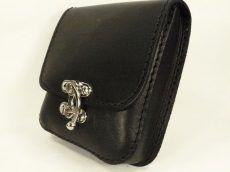 Fekete bőr övtáska, egyfakkos, horgas csatos, kisebb - leather belt bag Leather Belt Bag, Continental Wallet, Rings, Floral, Jewelry, Fashion, Moda, Jewlery, Jewerly