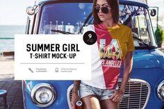 Summer Girl T-Shirt Mock-Up by RDK Design on @creativemarket
