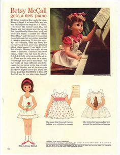 1962 april/ betsy mccall I was always so happy when my mom let me have this page from her McCall's magazine! :)C