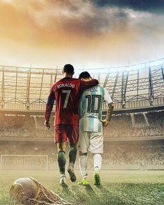 Messi and Ronaldo made many of us Love Football. World Cup 2018 Russia Cristiano Ronaldo 7, Messi Et Ronaldo, Cr7 Messi, Ronaldo Football, Messi Soccer, Football Soccer, Football Players, Ronaldo Memes, Legends Football
