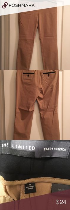 The limited size 8 beige with black stripes pants Beautiful pants to wear to work or out to dinner. From The Limited size 8. The Limited Pants Straight Leg
