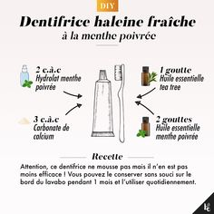 DIY : Dentifrice haleine fraîche - How To Clean Clams? Beauty Care Routine, Beauty Routines, How To Clean Clams, Diy Beauty, Beauty Hacks, Face Care, Skin Care, Homemade Body Care, Handmade Cosmetics