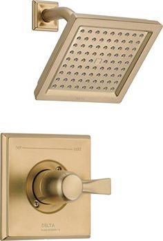 Delta Faucet Dryden 14 Series Single-Function Shower Trim Kit with Single-Spray Touch-Clean Shower Head, Champagne Bronze (Valve Not Included) Delta Dryden, Shower Arm, Clean Shower, Fixed Shower Head, Tub And Shower Faucets, Shower Cleaner, Delta Faucets, Body Spray, Shower Heads