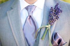 Lavender Groom boutonnier