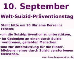 September Gedenktag Welt-Suizid-Präventionstag