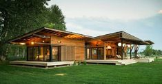 When it comes to prefab homes, some people want a modern, minimalist modular look and others want a more traditional, wood frame house look. This prefab home goes for the second route. It's ...