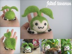 Felted mini cute plant baby toy seedling plushie